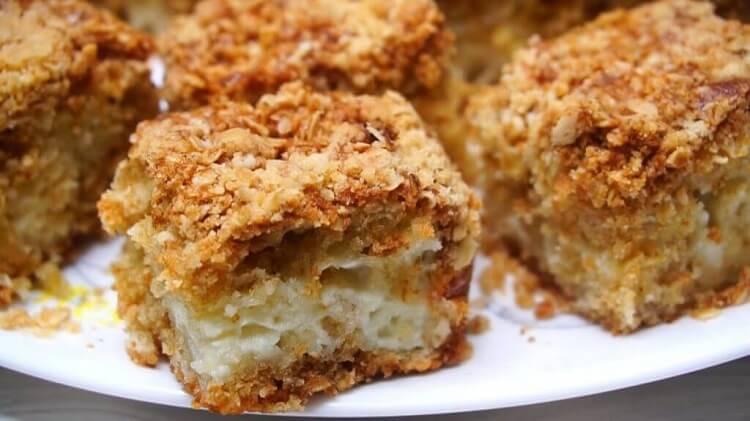 Насыпной пирог из овсянки: пошаговый рецепт
