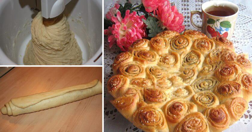 Пирог «Завитки» на дрожжевом тесте