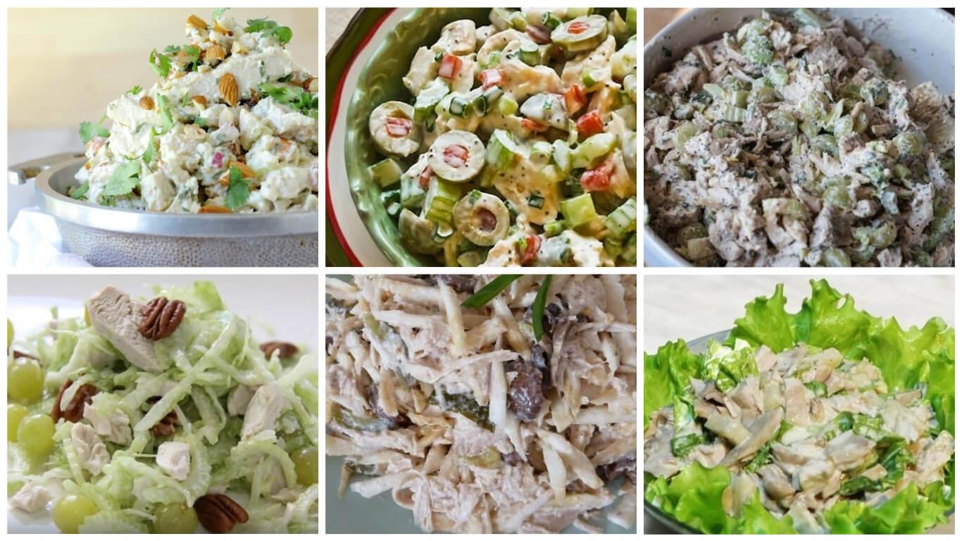 Подборка свежих и полезных салатов с курицей и сельдереем