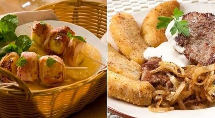 Подборка ТОП-10 горячих блюд с бананами