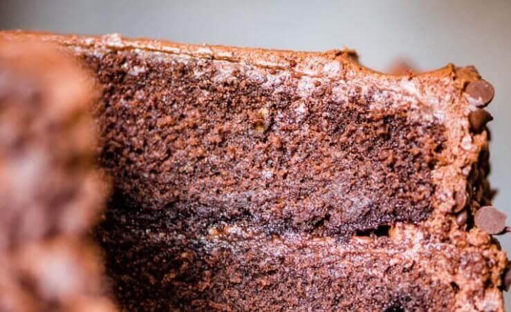 Полезный низкокалорийный шоколадный бисквит