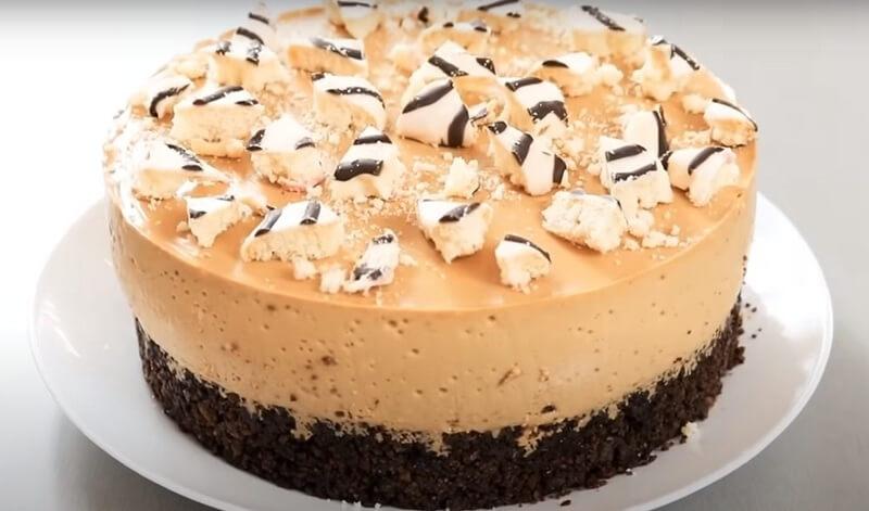 Потрясающе-нежный десерт без выпечки торт «Неженка»