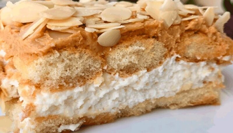 Потрясающий десерт- торт из печенья савоярди «Безделушка»