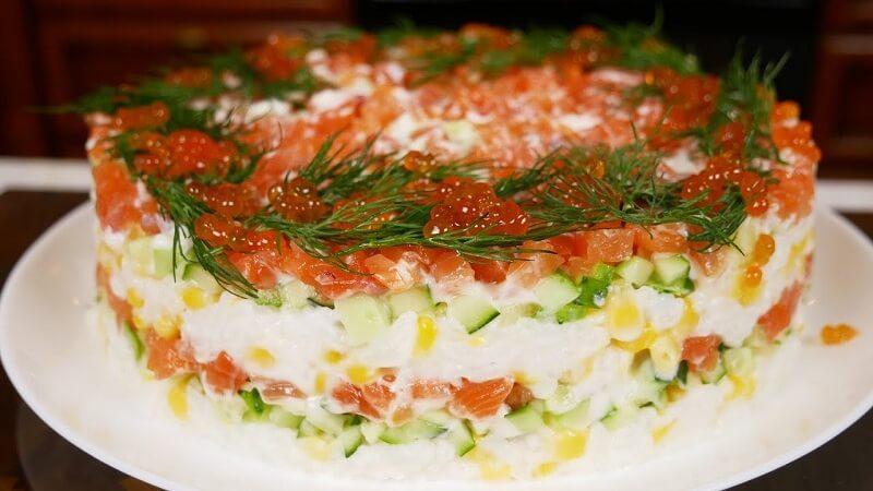 Праздничный салат «Облепиха»