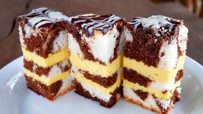 Праздничный торт с необыкновенным кремом