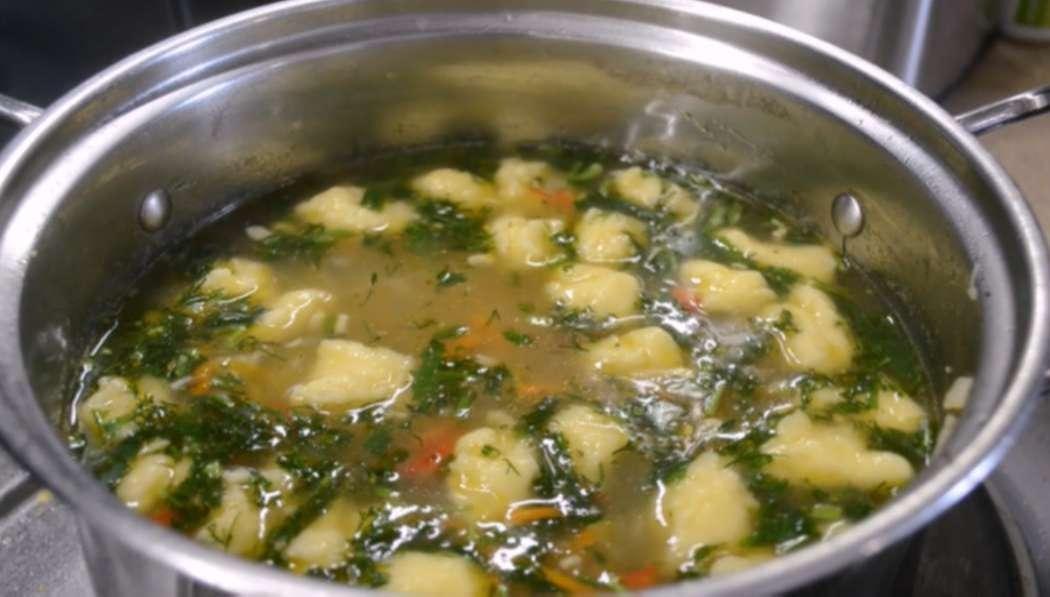 Приготовление супа с клецками. Клецки для супа из муки