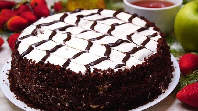 Простой и быстрый рецепт шоколадного торта