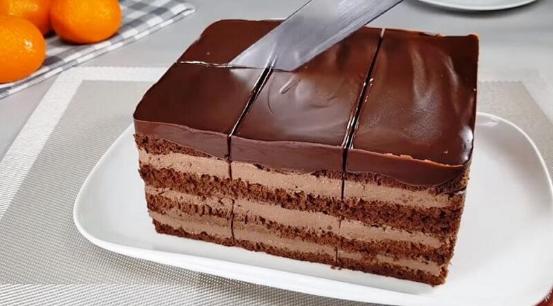 Простой и быстрый в приготовлении шоколадный торт