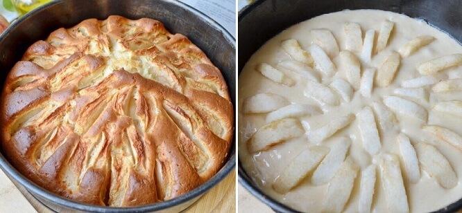 Простой яблочный пирог на скорую руку