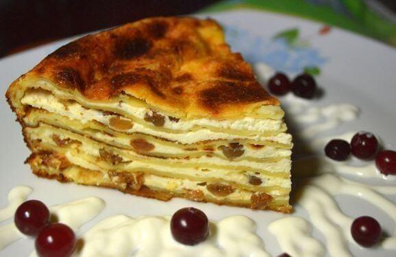 Простой рецепт блинного пирога