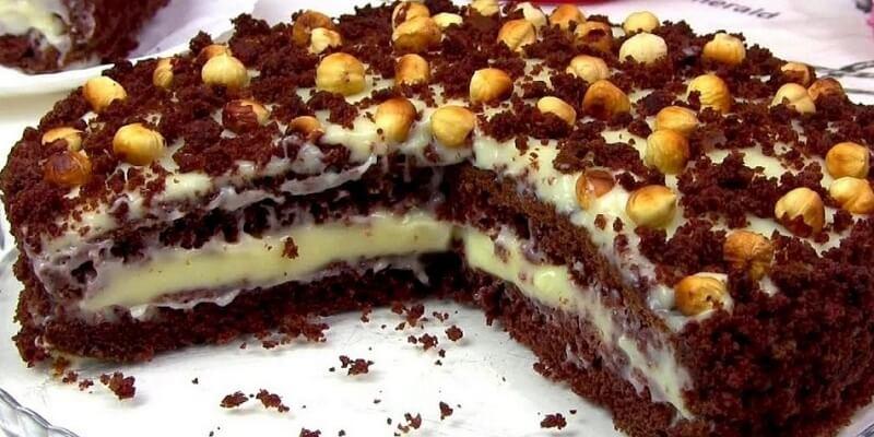 Простой торт на кефире «Фантазия»