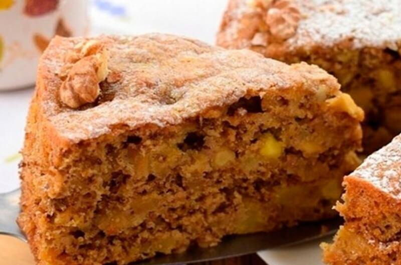 Рецепт ароматного яблочного пирога «Рассвет» с орехами