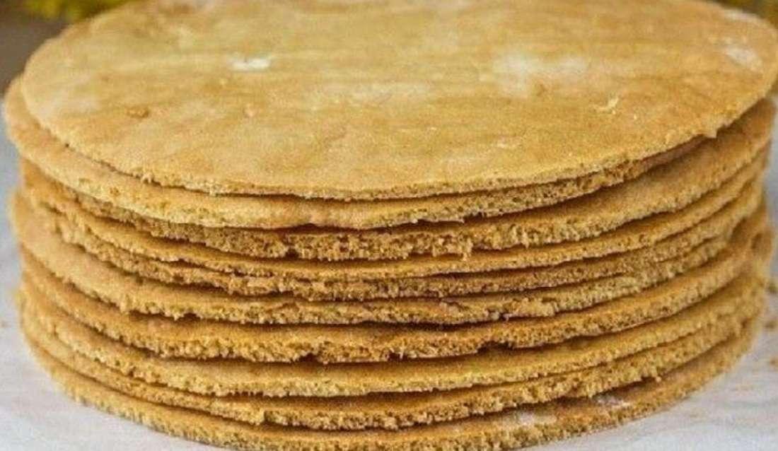 Рецепт быстрого приготовления коржей для торта