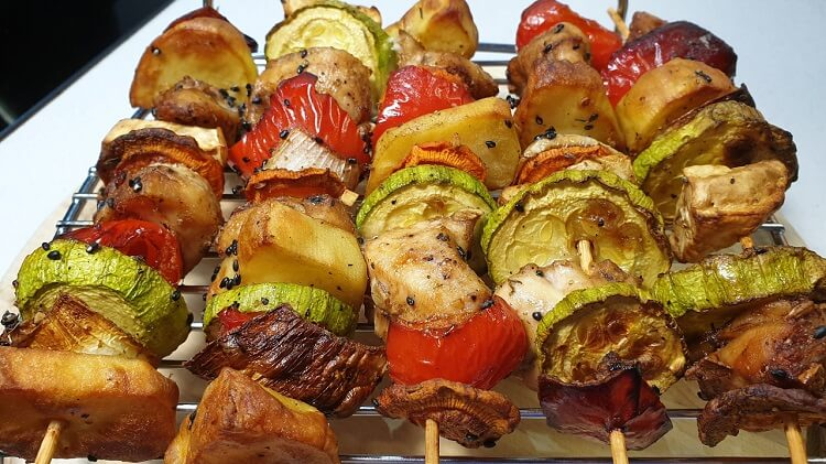 Рецепт куриной грудки с овощами за 10 минут!