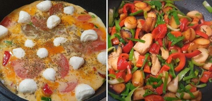 Простой рецепт омлета с овощами