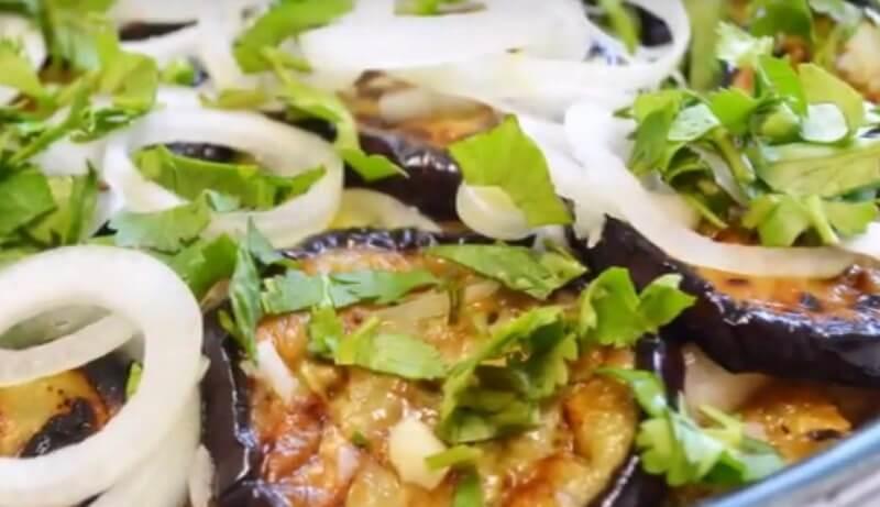 Рецепт прекрасной закуски из баклажанов