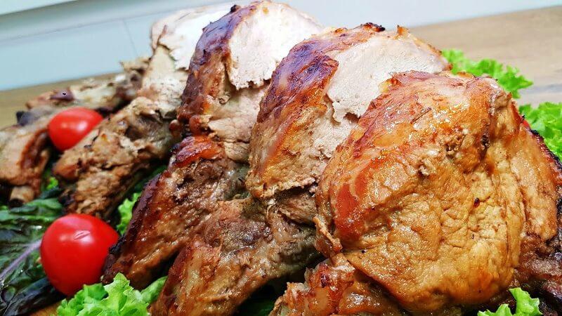 Рецепт приготовления свиной корейки на косточке