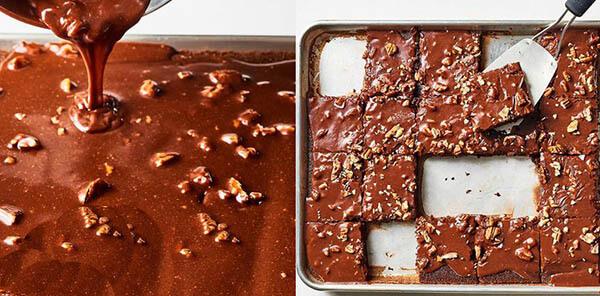Рецепт шоколадного пирожного с орехами