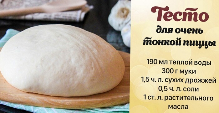 Рецепт теста для тонкой пиццы