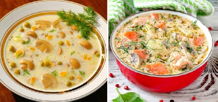 Лучшие рецепты сырных супов