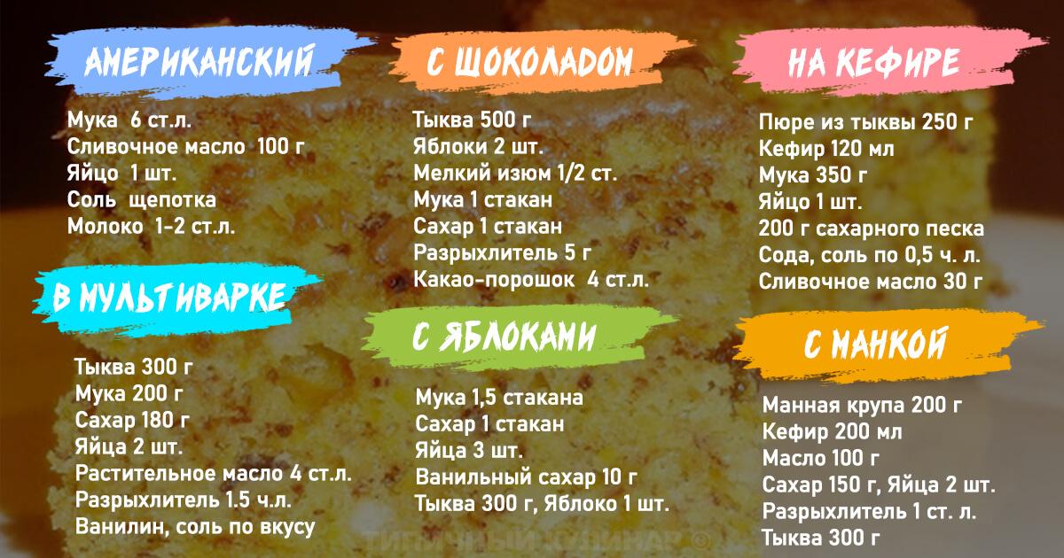 Тыквенный пирог: лучшие рецепты выпечки