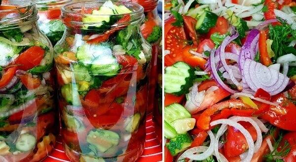 Салат овощной Шакароб - потрясающая закуска на зиму!