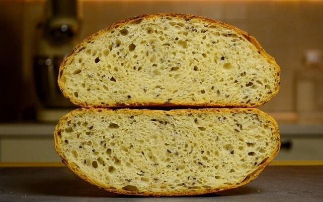 Самый простой рецепт хлеба без замеса