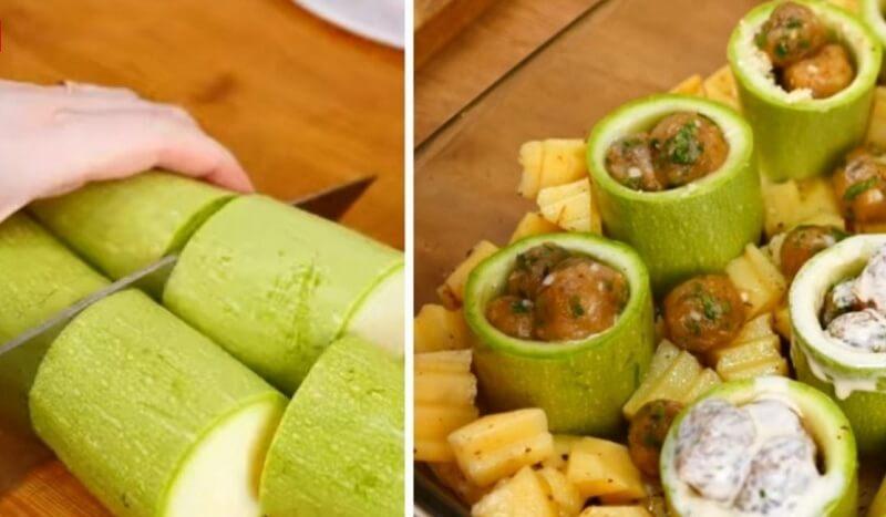 Шедевральный рецепт фаршированных кабачков с картофелем и сыром