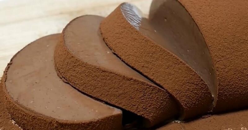 Шоколадный мусс-десерт