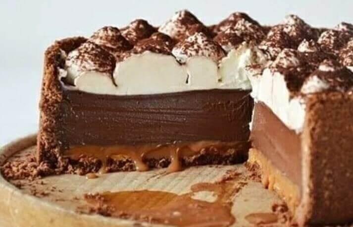 Шоколадный пирог «Kuba Blanka» с карамелью