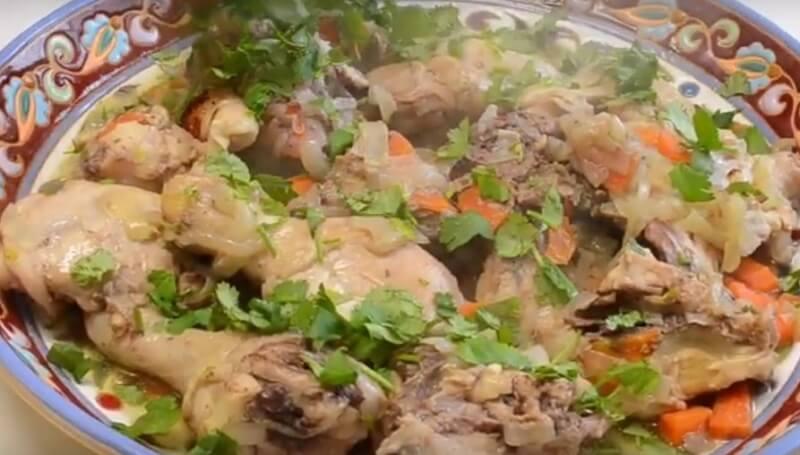 Сочное и нежное куриное мясо с овощами