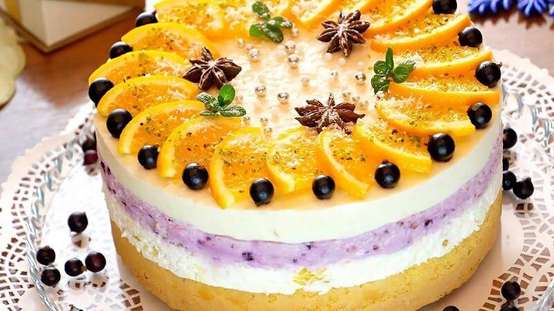 Суфле с апельсинами и сливочным сыром