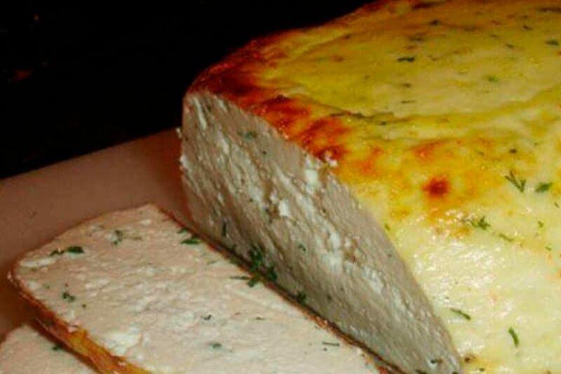 Сыр домашний, запеченный в духовке