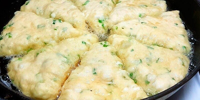 Сырные лепёшки на кефире за 10 минут