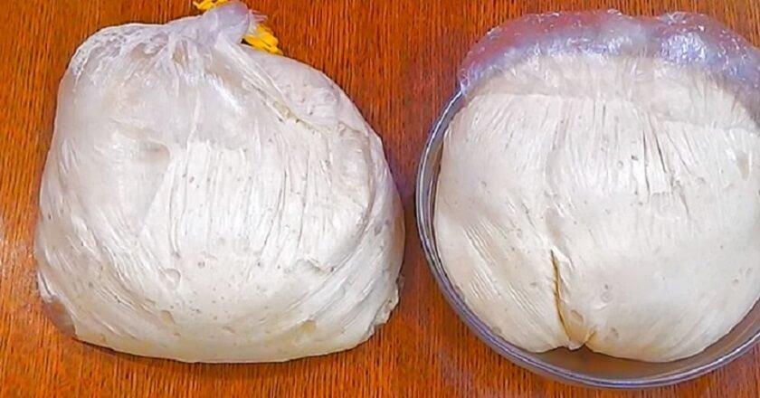 Тесто в пакете без долгой расстойки