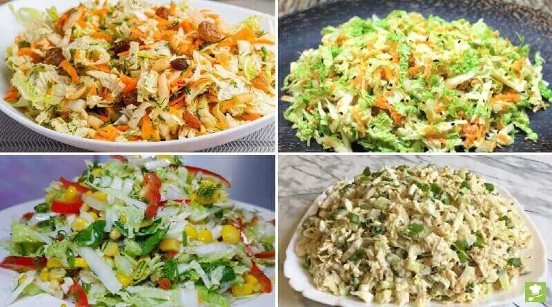 ТОП-10 лёгких салатов с пекинской капустой