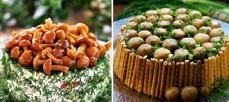 ТОП-10 простых и вкусных салатов с грибами