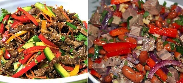 Рецепты теплых и питательных салатов с говядиной: 8 идей на заметку!