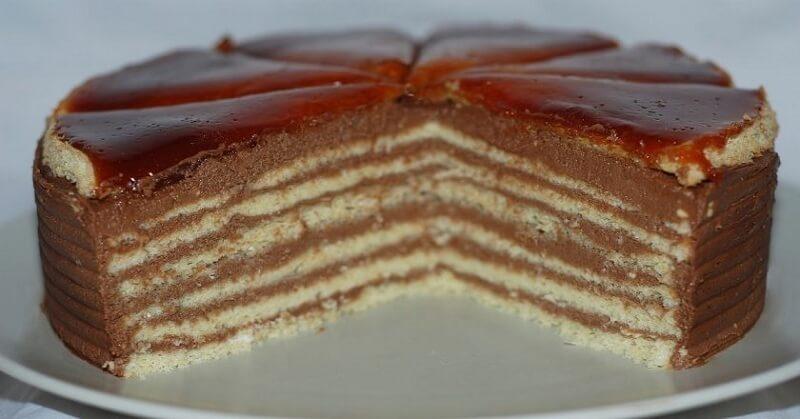 Торт «Добош» рецепт от венгерского кондитера