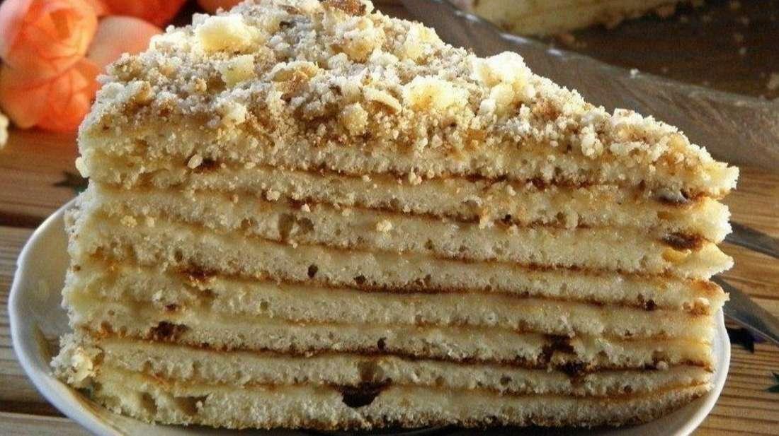 Торт «Минутка» без духовки