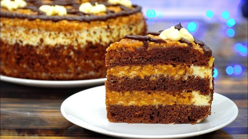 Торт «Орешек» в карамели