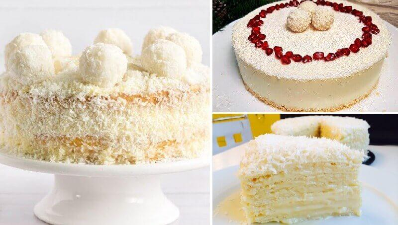 Торт «Рафаэлло» без духовки