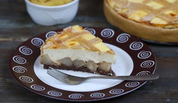 Пирог с творогом и грушами: пошаговый рецепт