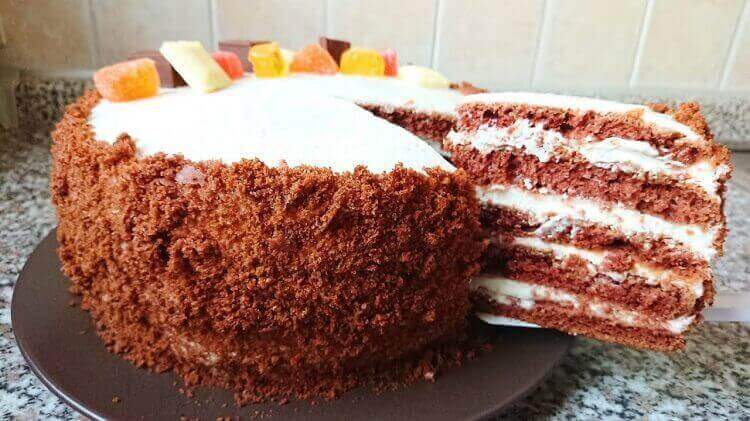 Домашний торт «Три стакана»