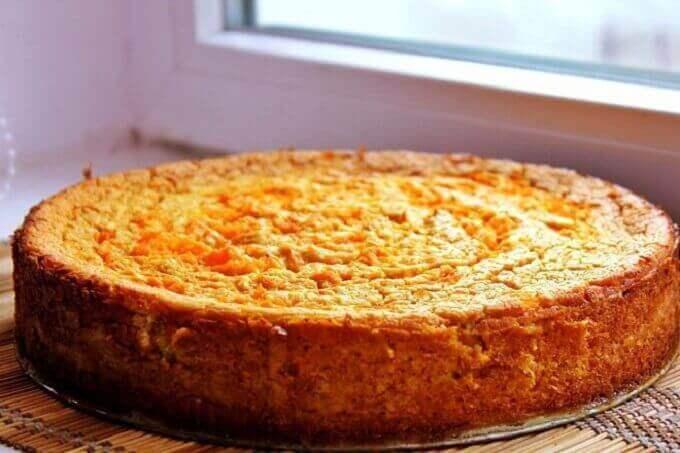 Творожно-морковная запеканка на кефире