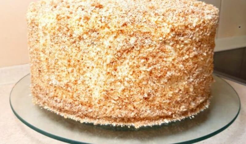 Упрощённый рецепт торта «Медовый» без раскатки коржей