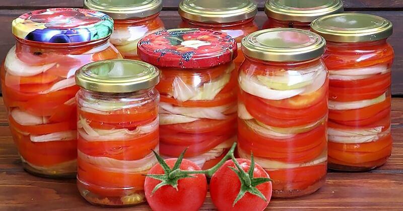 Любимые рецепты вкуснейших салатов из помидор на зиму