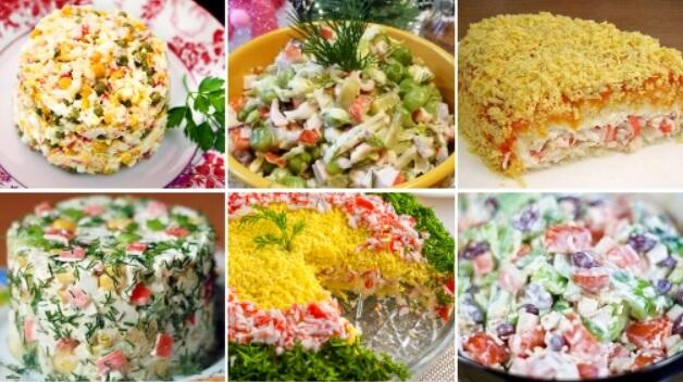 Вкусные салаты с крабовыми палочками: 10 новых и простых рецептов