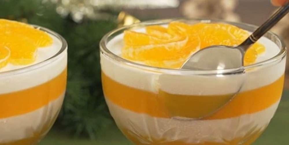 Вкусный десерт из мандаринов