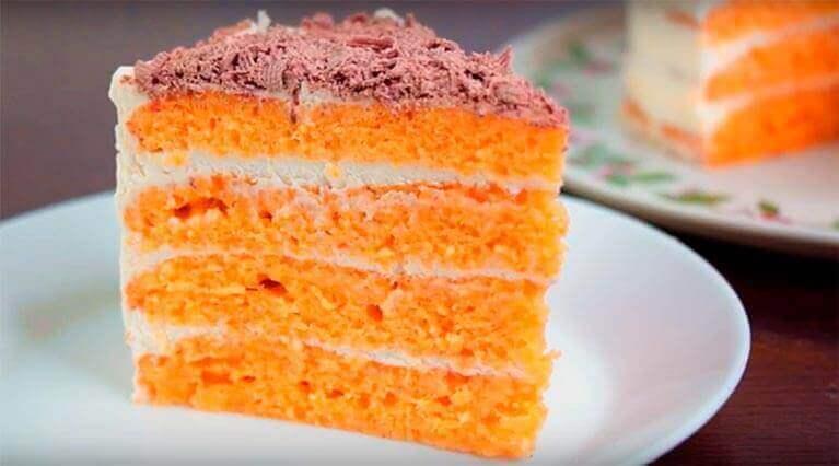 Вкусный и простой рецепт морковного торта